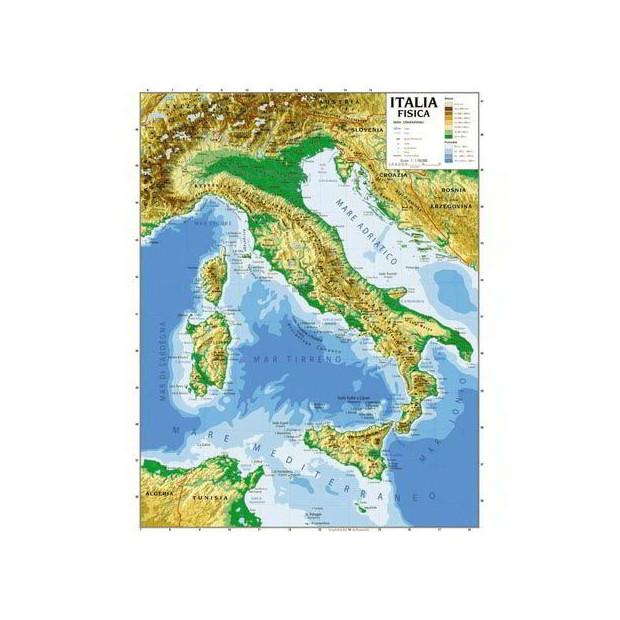 Cartina Geografica Italia Africa.Cartina Geografica 100x140 Italia Nadir Cancelleria