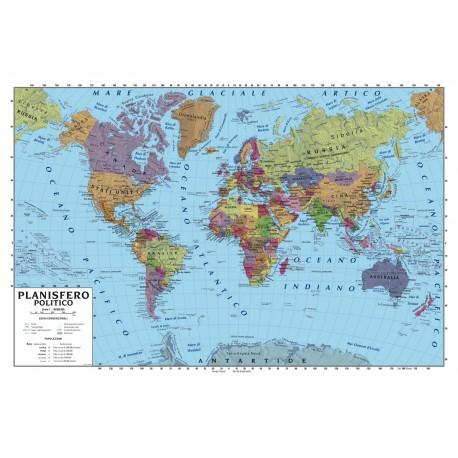 Cartina Giografica.Cartina Geografica 100x140 Planisfero Nadir Cancelleria